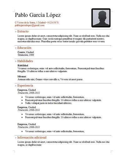 Plantilla curriculum vitae 21