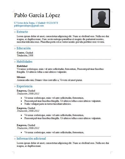 Plantilla curriculum vitae 22