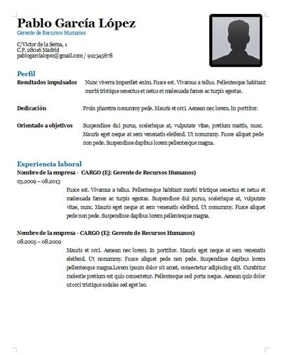 Plantilla curriculum vitae 7